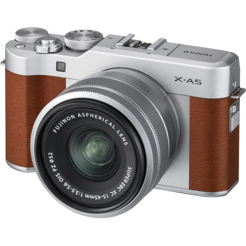 FUJIFILM X-A5 Mirrorless Digital Camera with XC 15-45mm Lens (Silver)