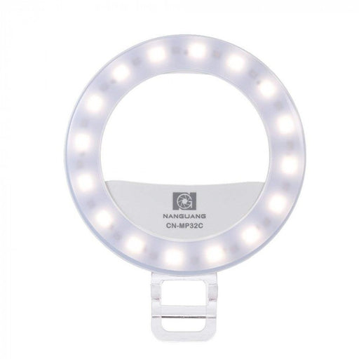 Nanguang CN-MP32C Clip-On Selfie Fill-In Ring LED Light Flash Bi-Color