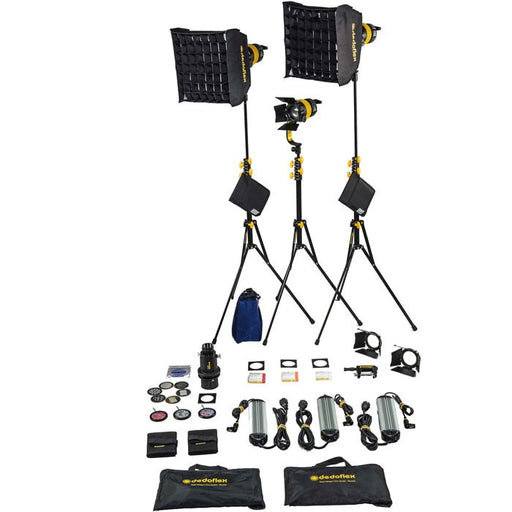Dedolight DLED7 Turbo LED 3-Light Bi-Color Kit