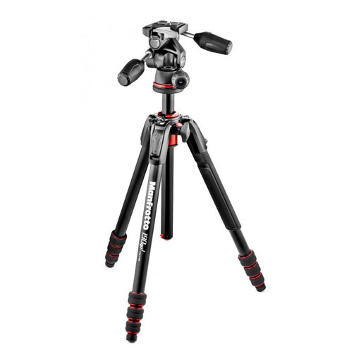 Manfrotto 190 Go! Kit Alu Black 4 Sec W/ Twist Locks & 3 Way Head