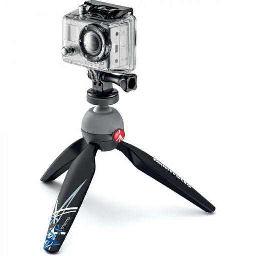 Manfrotto PIXI Xtreme Mini Tripod Black With Tripod Mount Adaptor For Action Camera