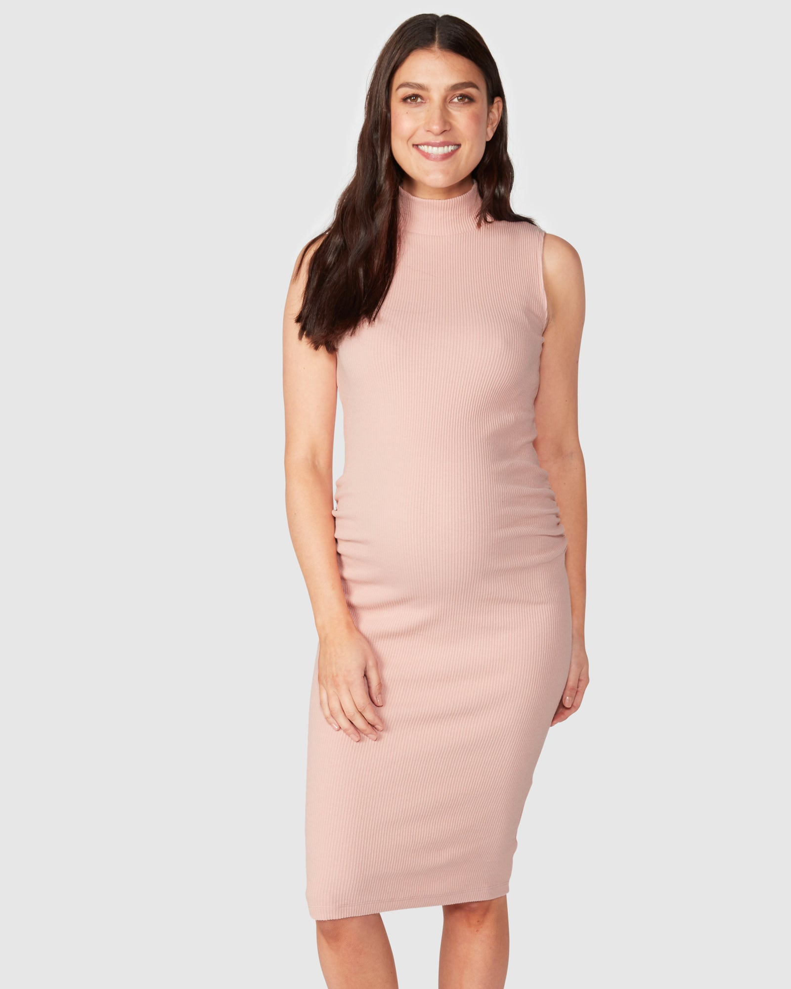 Audrey Sleeveless Rib Dress