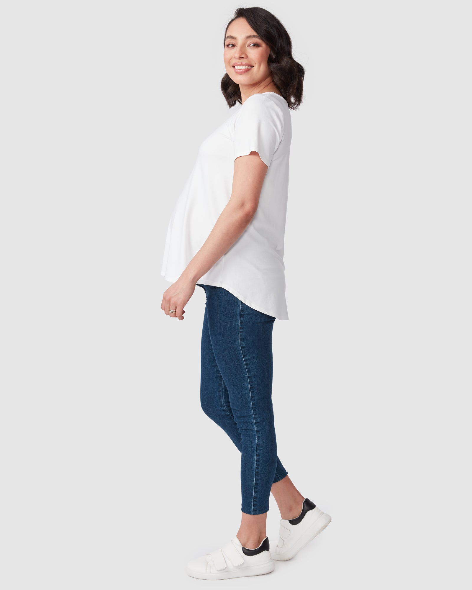 Tegan Underbelly Crop Jeans