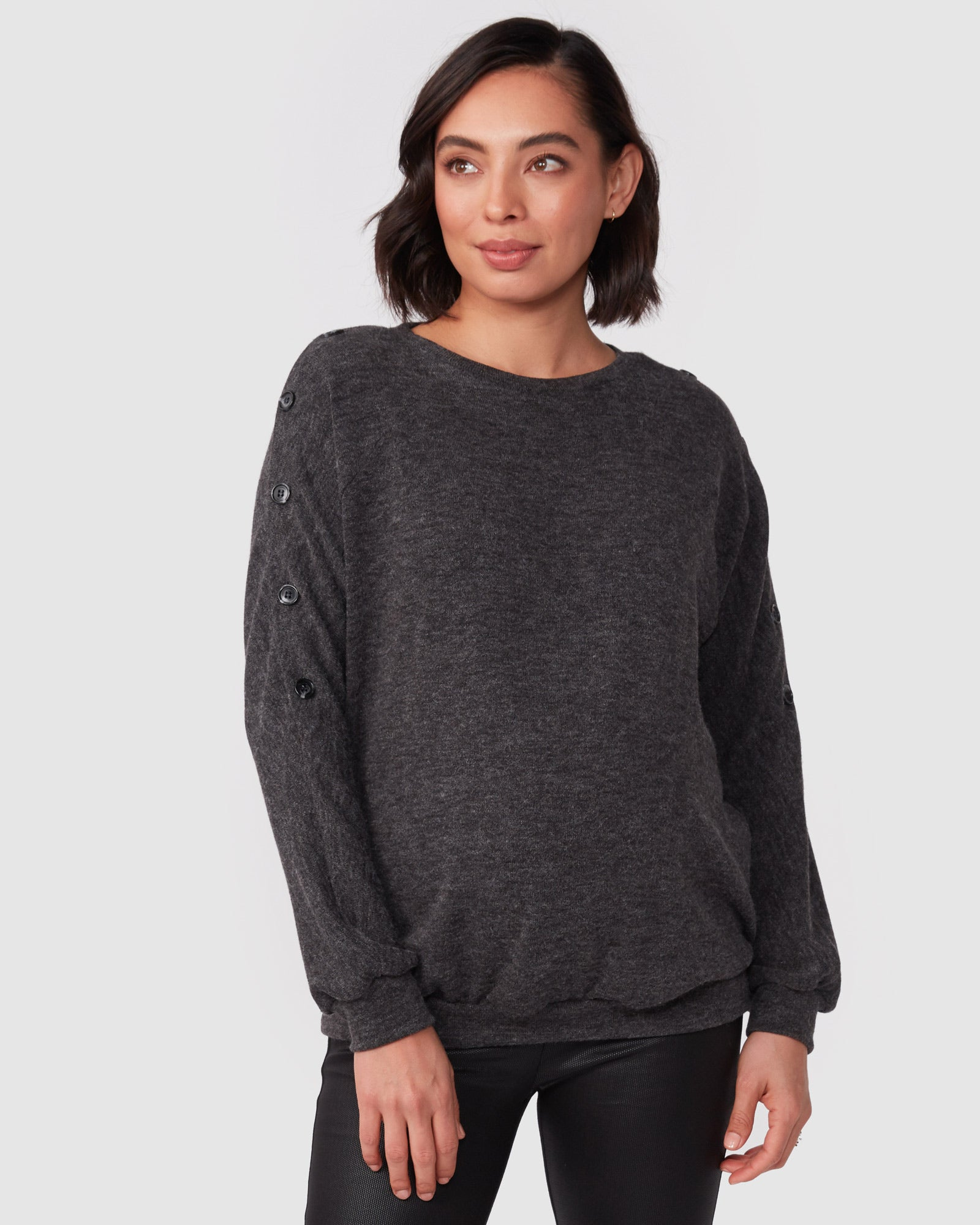 Elliot Button Nursing Knit