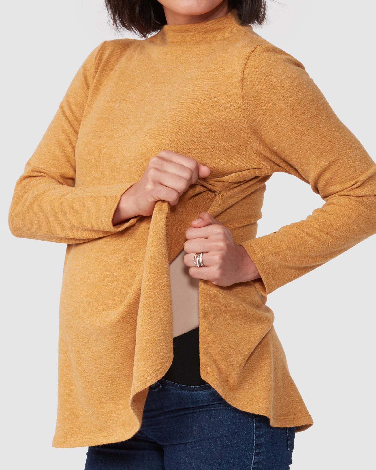Elliot Funnel Neck Nursing Knit
