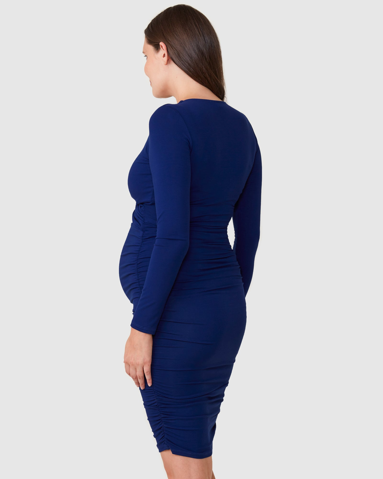Bailey Crossover Long Sleeve Nursing Dress