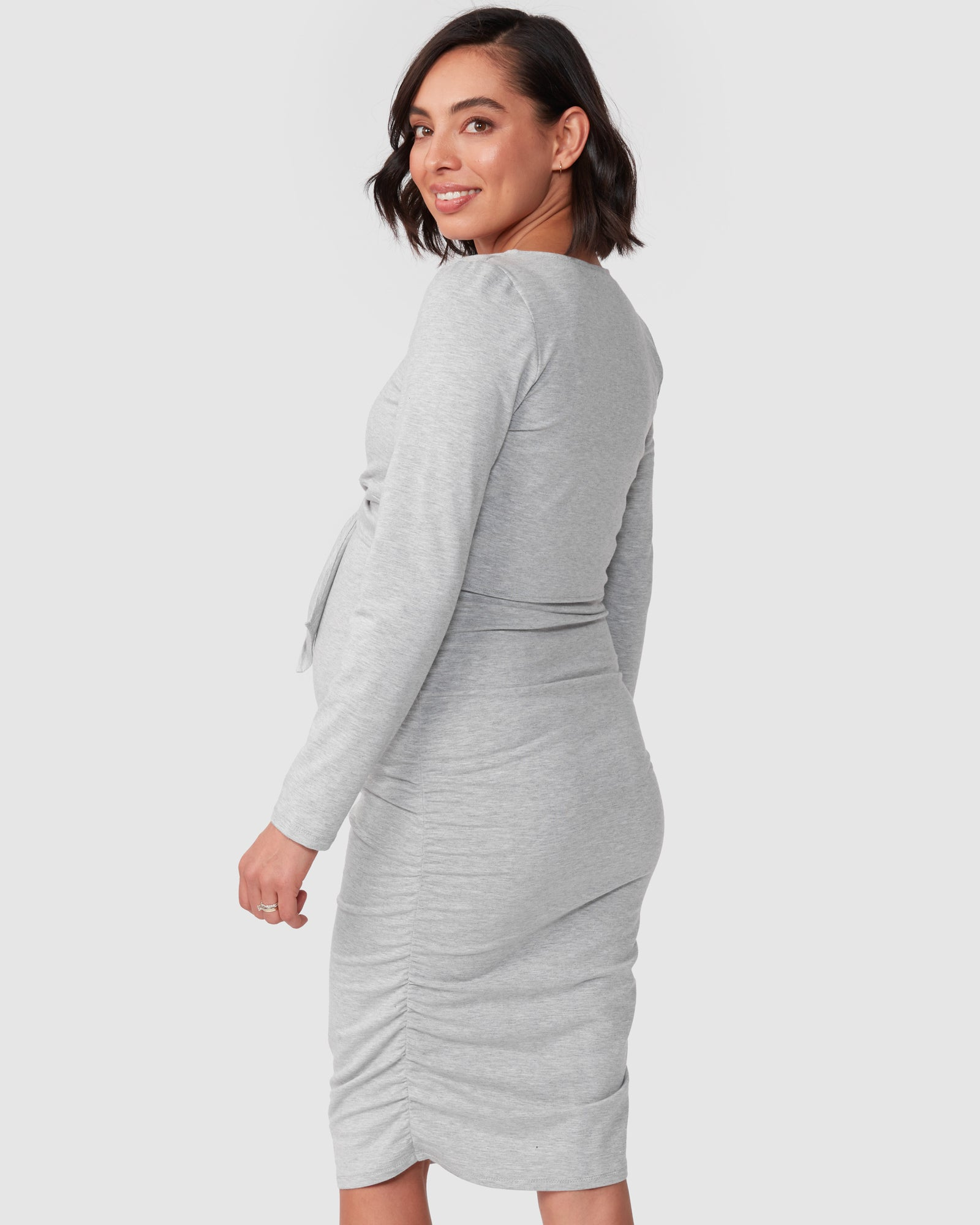 Bailey Tie Long Sleeve Nursing Dress