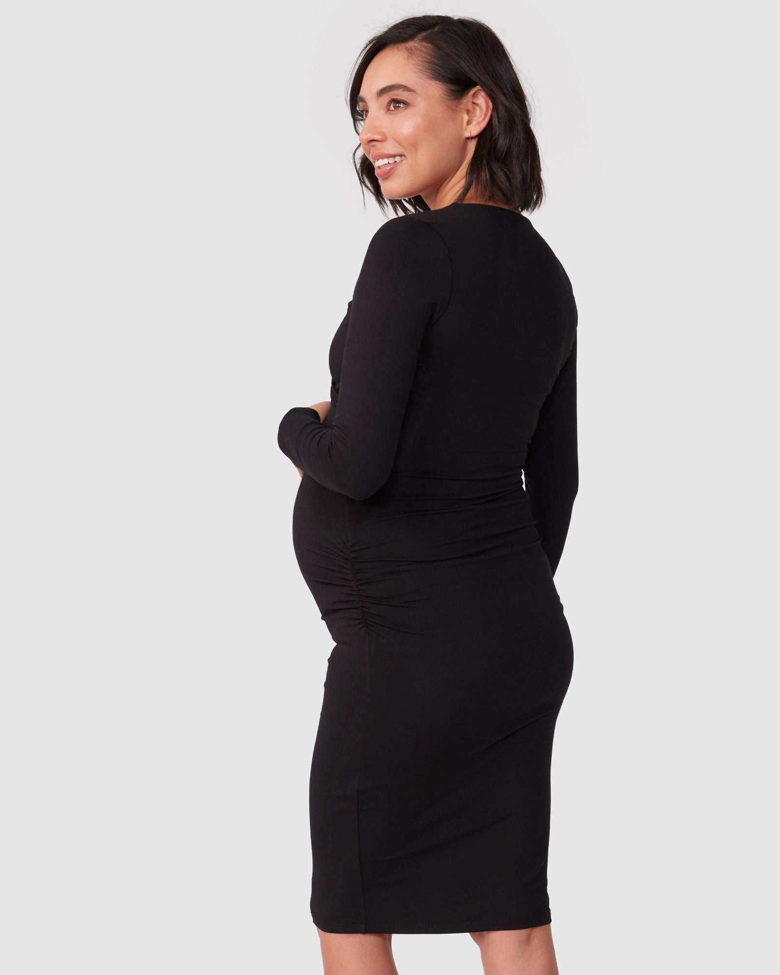 Bailey Overlay Long Sleeve Nursing Dress