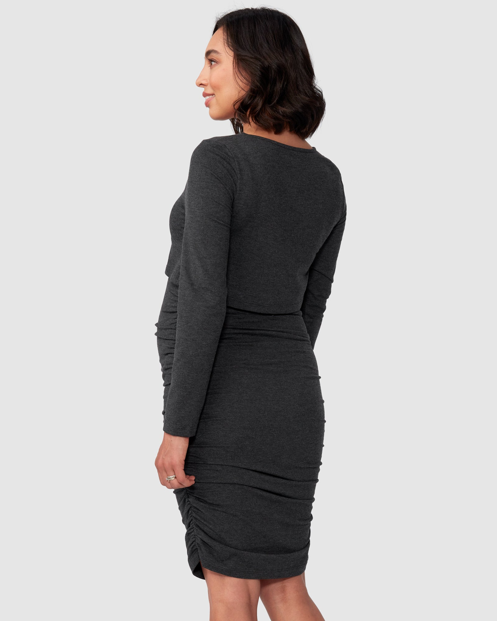 Lindsay Long Sleeve Nursing Dress