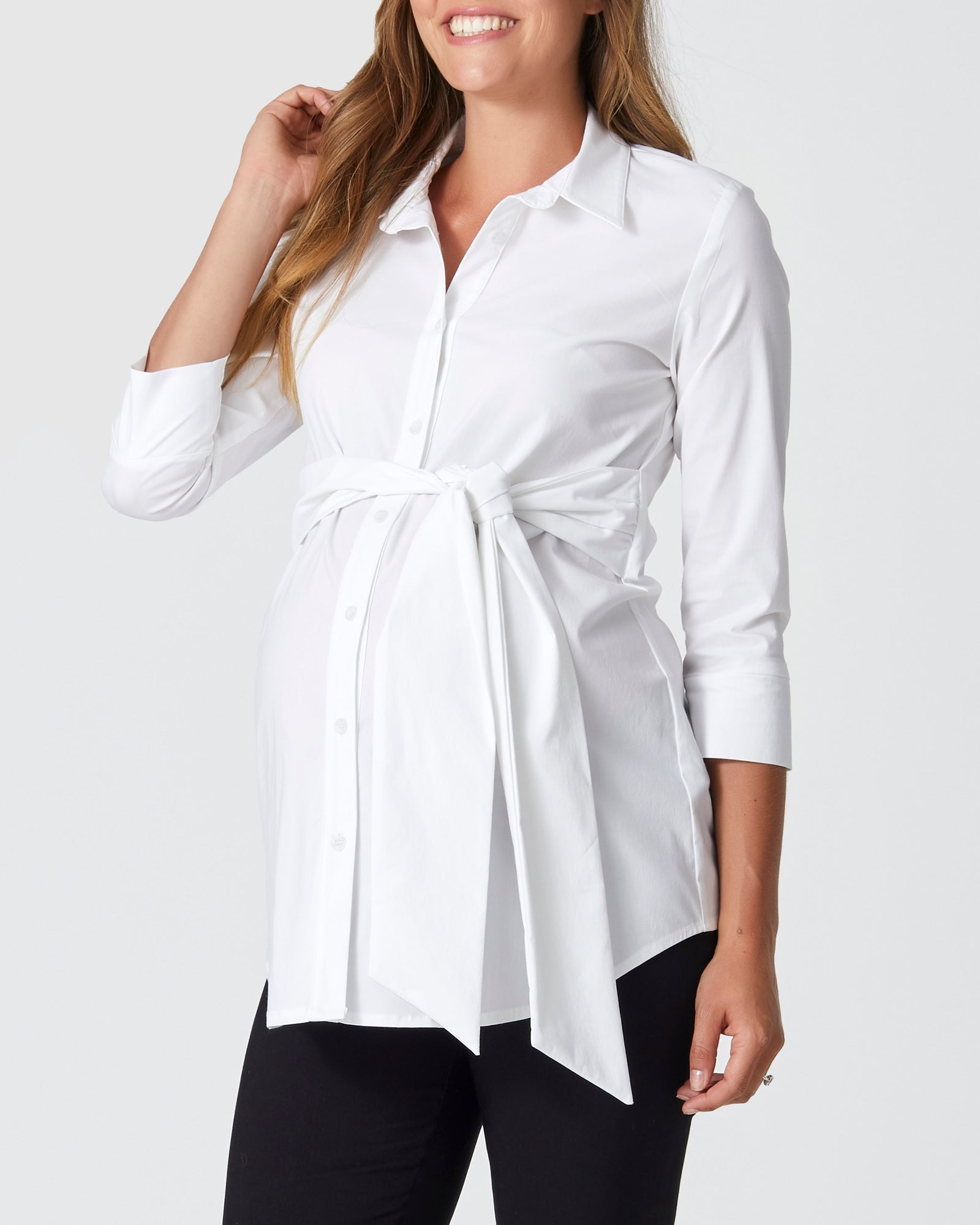 Mid Sleeve Tie Shirt (outlet)