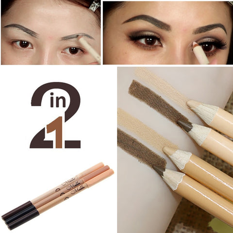 Menow Professional 2 in 1 Eyebrow Pencil & Corrector Waterproof