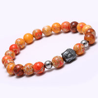 Nature Stone Buddha Head Bracelet