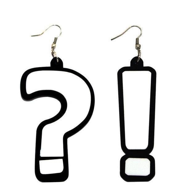Hook Drop Earrings Question Mark&Exclamation Mark