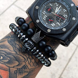 Crown Warrior Skull Titanium Bracelet