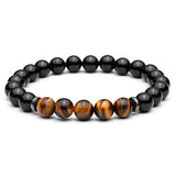 Tiger Eye Beads & Bangles Elastic Natural Stone Bracelets