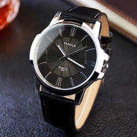 Luxury Leather Roman Watch