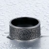 Mythical Dragon Greek Symbols Ring