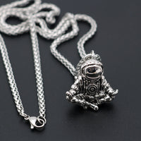 Astronaut Pendant Necklace Galaxy Stainless Steel Chain