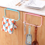 Hanging Holder for Cupboard Kitchen Cabinet Bathroom Towel Rack Sponge Holder Wardrobe Cabinet