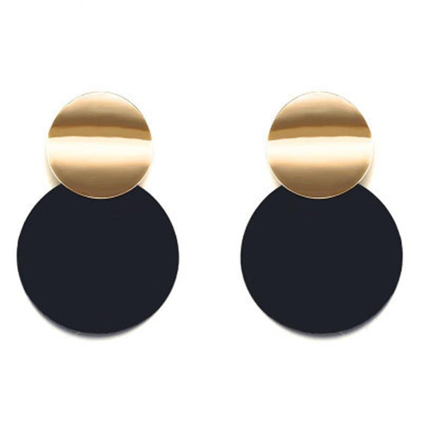 Drop Earrings  Acrylic Big Round