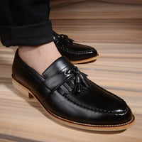 British Carving Tassel Oxfords Shoes