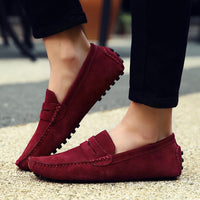 Leather Loafers Moccasins Slip On Shoes