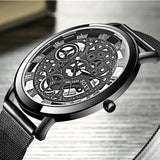 Luxury Hollow Steel Watches Quartz Wrist Watch