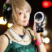 Universal Selfie 36 LED Ring Flash Light Portable Mobile