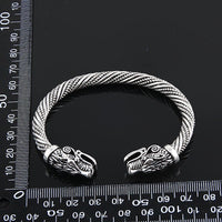 Teen Wolf Head Bracelet Indian Jewelry Fashion Viking Bracelet Wristband Cuff Bracelet