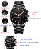 Luxury Steel Strap Watch