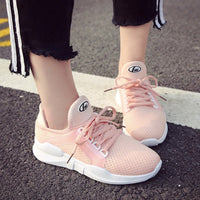 Casual Flats Shoes Fashion Breathable Hollow Lace-Up