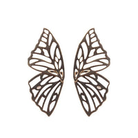 Butterfly Pendant Statement Stud Earrings
