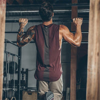 Newest Brand Curved Hem Patchwork Gym Stringers Vest Bodybuilding Clothing Fitness Tanks T-shirt