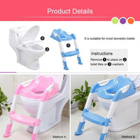 Baby Child Potty Toilet Trainer Seat Step Stool Ladder Adjustable Training Chair baby toilet potty training menino for kids port