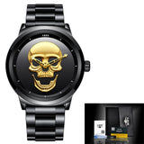 Skull Quartz Stainless Steel Waterproof Watch