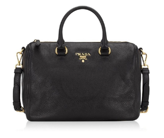 Prada Bauletto Vitello Phenix Handbag