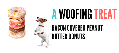 Bacon Covered Peanut Butter Donuts - In Pups We Trust