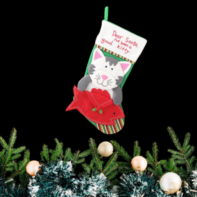 Cat Christmas Stocking - In Pups We Trust
