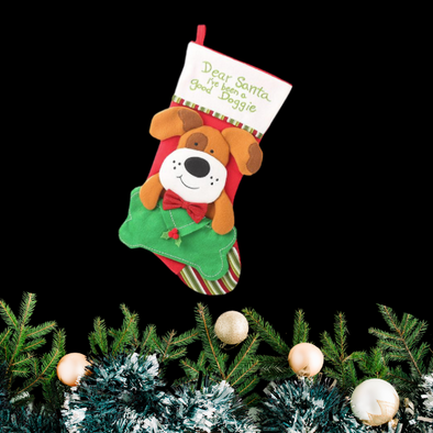 Dog Christmas Stocking - In Pups We Trust