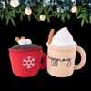 Hot Cocoa + Eggnog Doggie Winter Drink Toy - In Pups We Trust