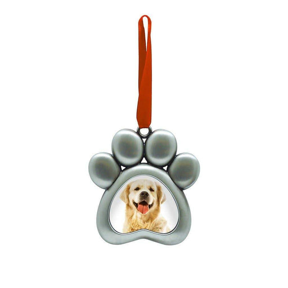 Pet Paw Photo Ornament - In Pups We Trust