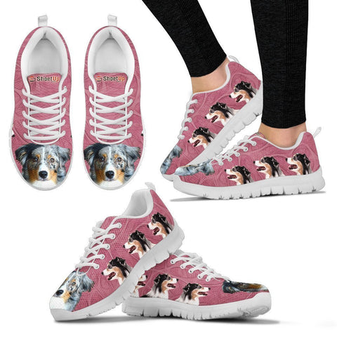 Amazing Miniature American Shepherd-Women's Running Shoes-Free Shipping-Paww-Printz-Merchandise