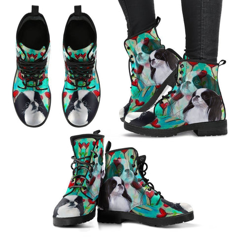Valentine's Day Special-Japanese Chin Dog Print Boots For Women-Free Shipping-Paww-Printz-Merchandise