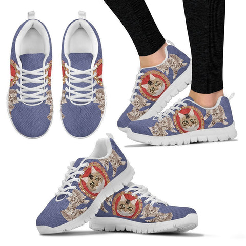 American Bobtail Christmas Running Shoes For Women- Free Shipping-Paww-Printz-Merchandise
