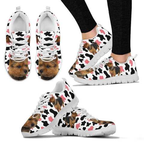 Norwich Terrier With Clipart Print Running Shoes For Women-Free Shipping-Paww-Printz-Merchandise