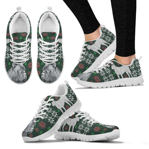 Cane Corso Dog Print Christmas Running Shoes For Women-Free Shipping-Paww-Printz-Merchandise