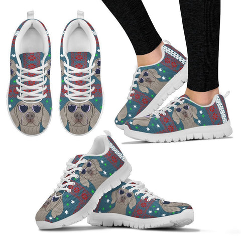 Weimaraner Dog Print Christmas Running Shoes For Women-Free Shipping-Paww-Printz-Merchandise