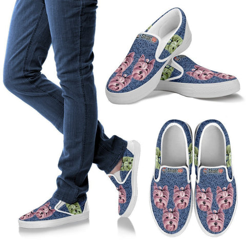 Amazing Yorkshire Print Slip Ons For Women-Free Shipping-Paww-Printz-Merchandise
