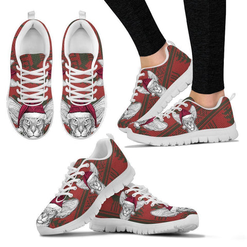 Oriental Shorthair Cat Christmas Print Running Shoes For Women-Free Shipping-Paww-Printz-Merchandise