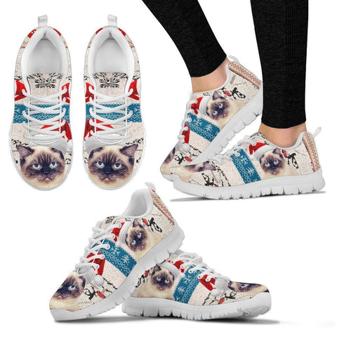 Birman Cat Christmas Running Shoes For Women- Free Shipping-Paww-Printz-Merchandise